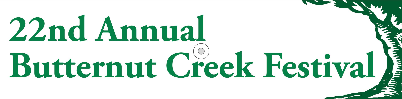 22nd Annual Butternut Creek Festival